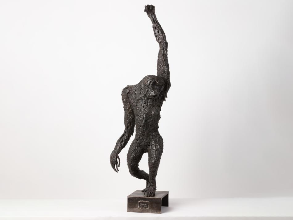 """Sculpture métal Rousso """"Gorille"""""""