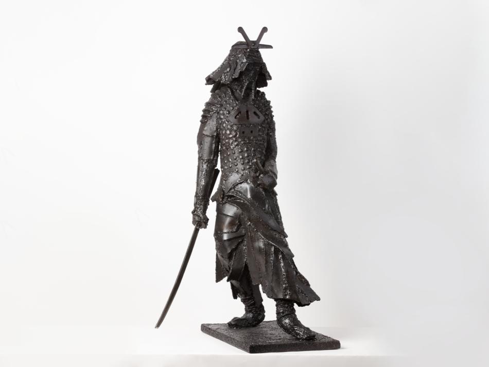"""Sculpture métal Rousso """"Samouraï"""""""