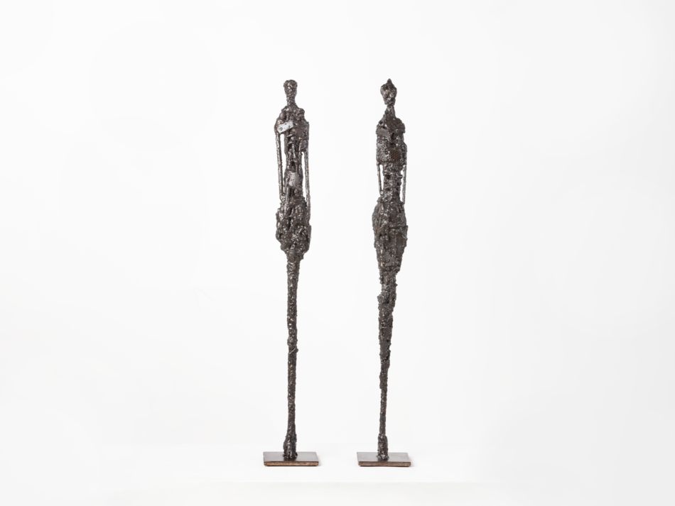 """Sculpture métal Rousso """"Hommage à Giacometti"""""""